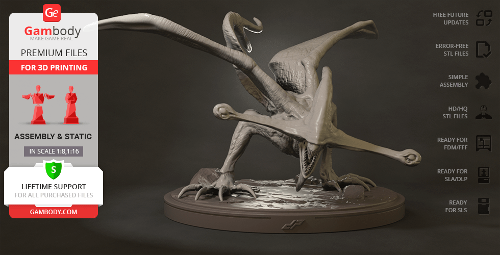 Buy Bioraptor 3D Printing Figurine | Assembly