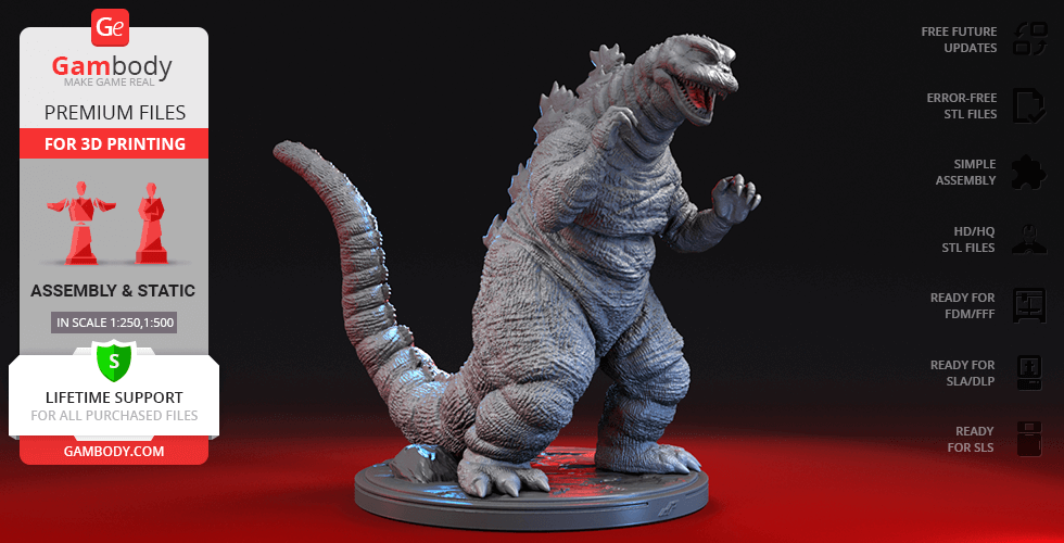 Buy Godzilla The SoshingekiGoji  3D Printing Figurine | Assembly