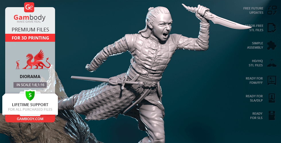 Buy Arya 3D Printing Figurine | Assembly