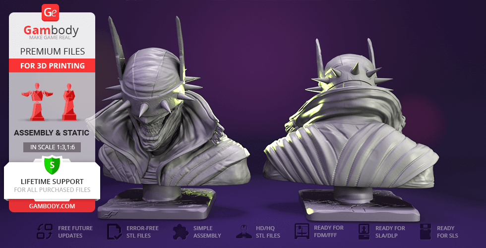 Buy The Batman Who Laughs Bust 3D Printing Figurine | Assembly