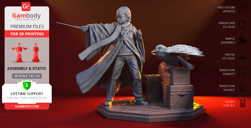 Buy Harry 3D Printing Figurine | Assembly