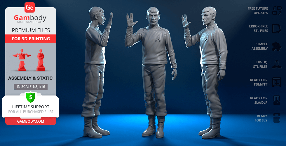 Buy Spock 3D Printing Figurine | Assembly