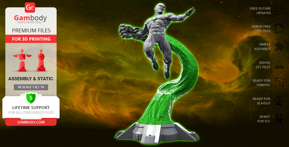Buy John Green Lantern 3D Printing Figurine | Assembly