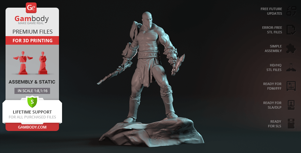 Buy God of War Kratos 3D Printing Figurine | Assembly