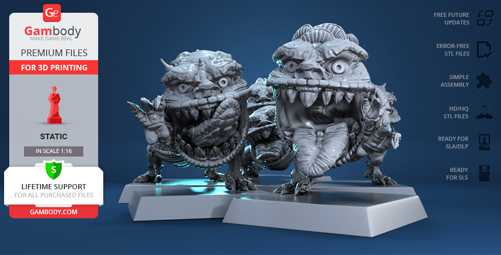 Buy Squiggly Beasts 3D Printing Miniatures | Static