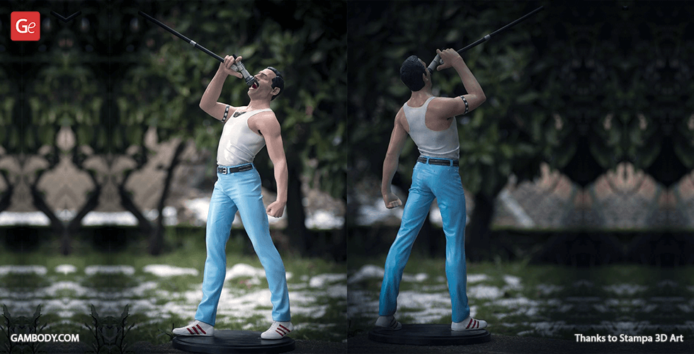 Buy Freddie Mercury 3D Printing Figurine | Assembly