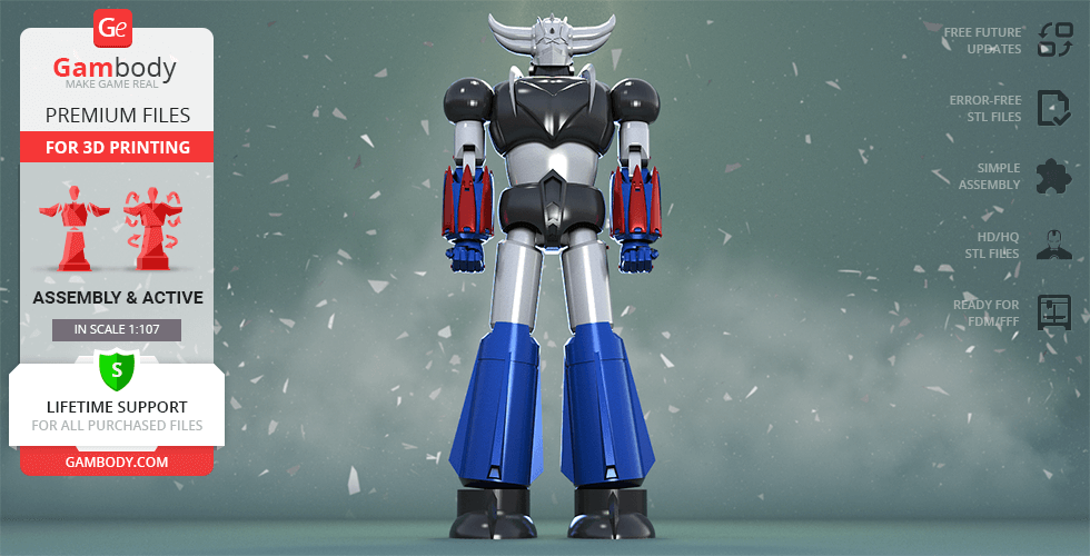 Buy Grendizer 3D Printing Model | Action Assembly