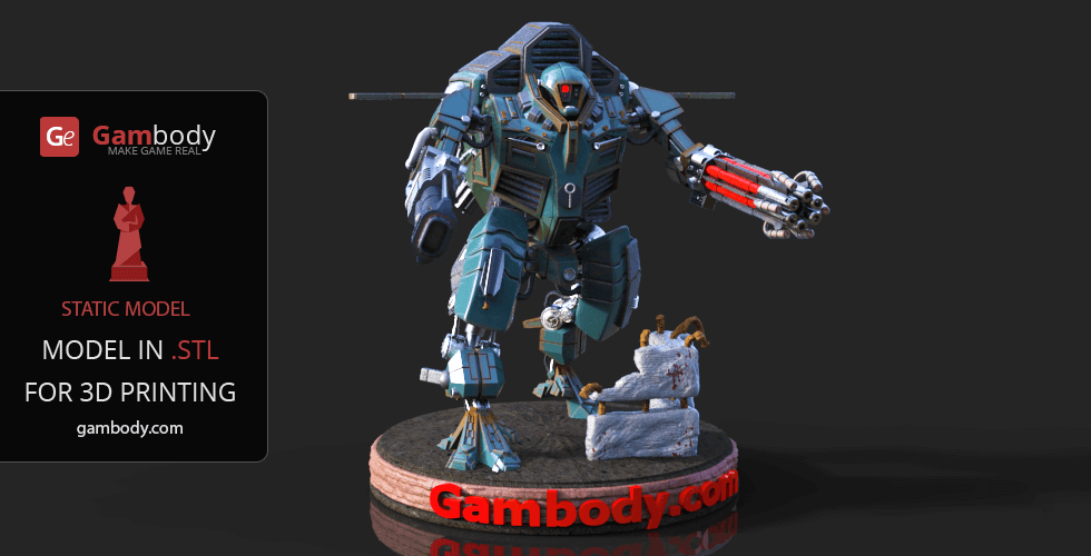 Buy War Robot 3D Printing Model | Assembly