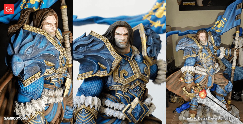 Buy Varian Wrynn 3D Printing Figurine | Assembly