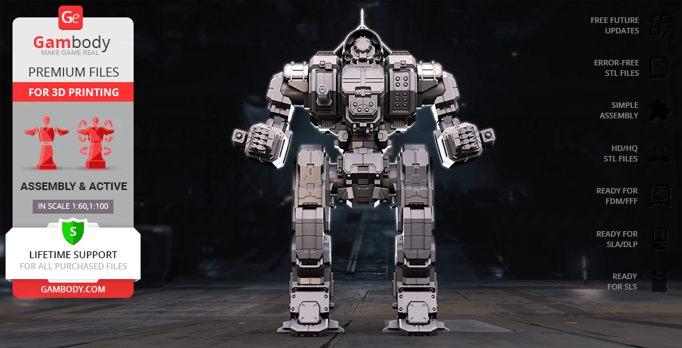 Buy MWO Cyclops 3D Printing Model | Assembly + Action