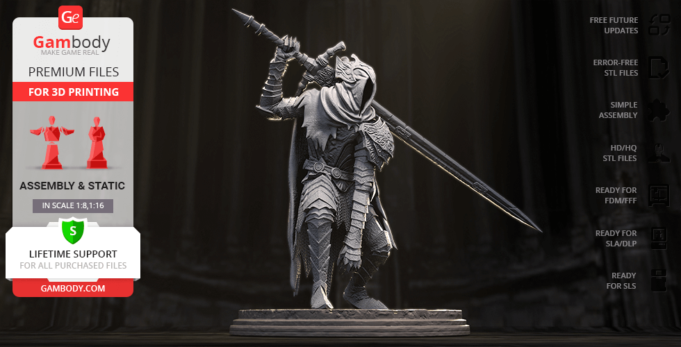 Buy Artorias 3D Printing Figurine | Assembly