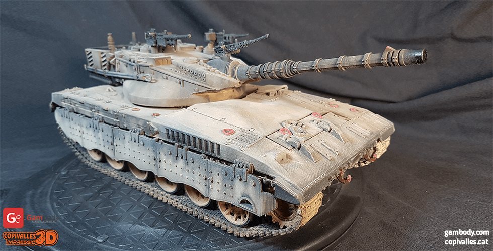Buy Merkava 2 Tank 1:24 Scale Size 3D Print Model | Assembly Kit