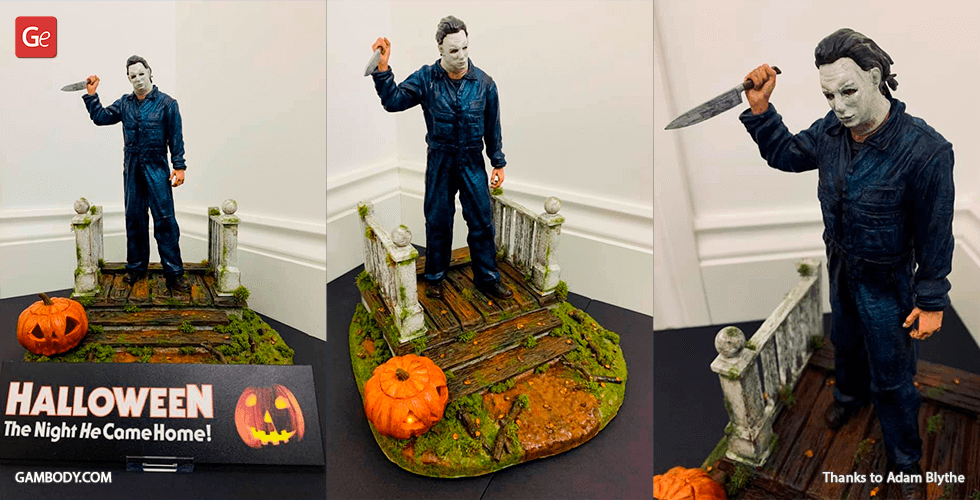 Buy Michael Myers 3D Printing Figurine | Assembly