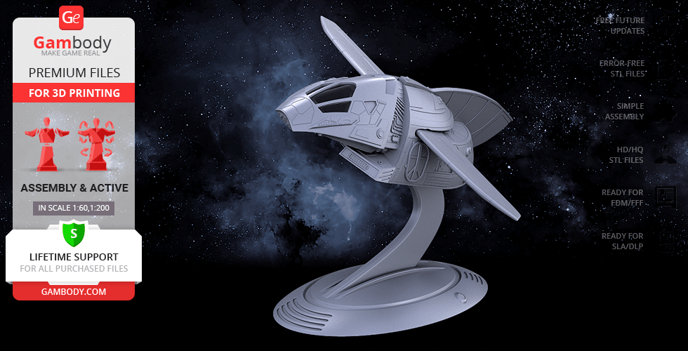 Buy Serenity Shuttle 3D Printing Model | Assembly