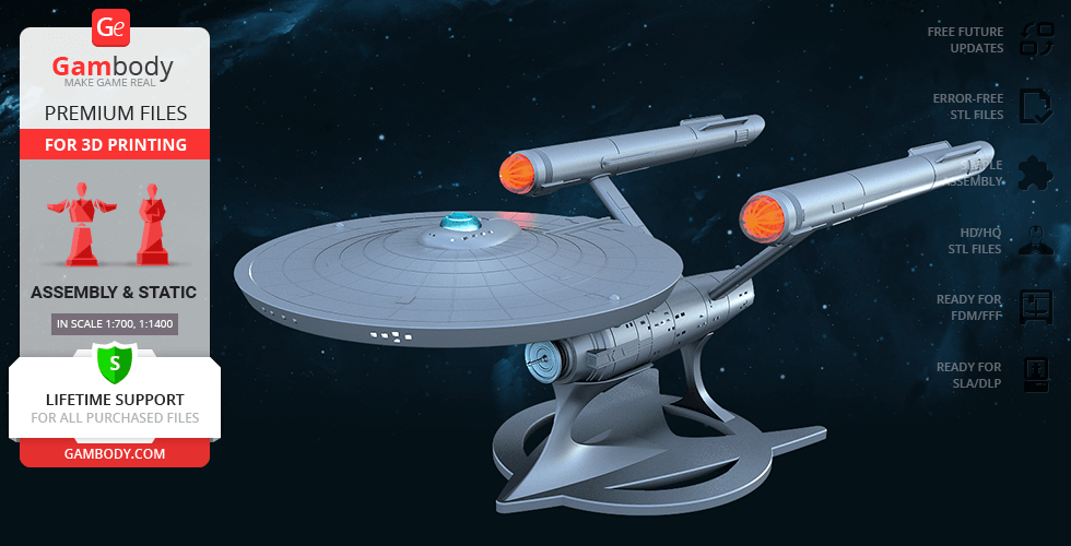 Buy USS Enterprise NCC-1701 3D Printing Model | Assembly