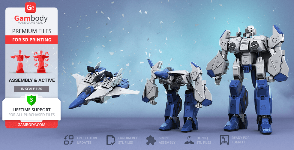 Buy Robotech VFA-6 Alpha 3D Printing Model | Action Assembly