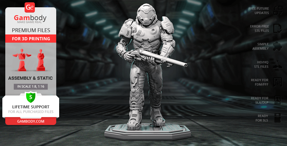 Buy Doom Slayer 3D Printing Figurine | Assembly