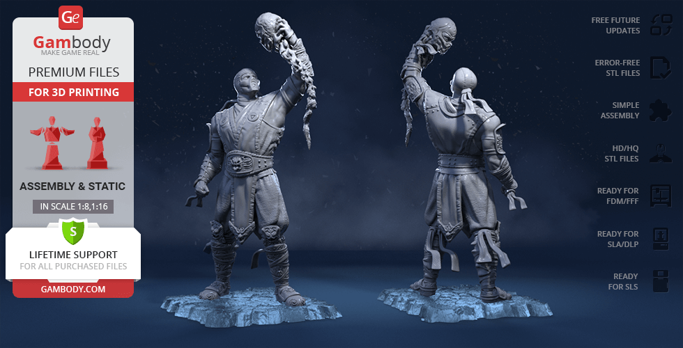 Buy Sub-Zero 3D Printing Figurine | Assembly