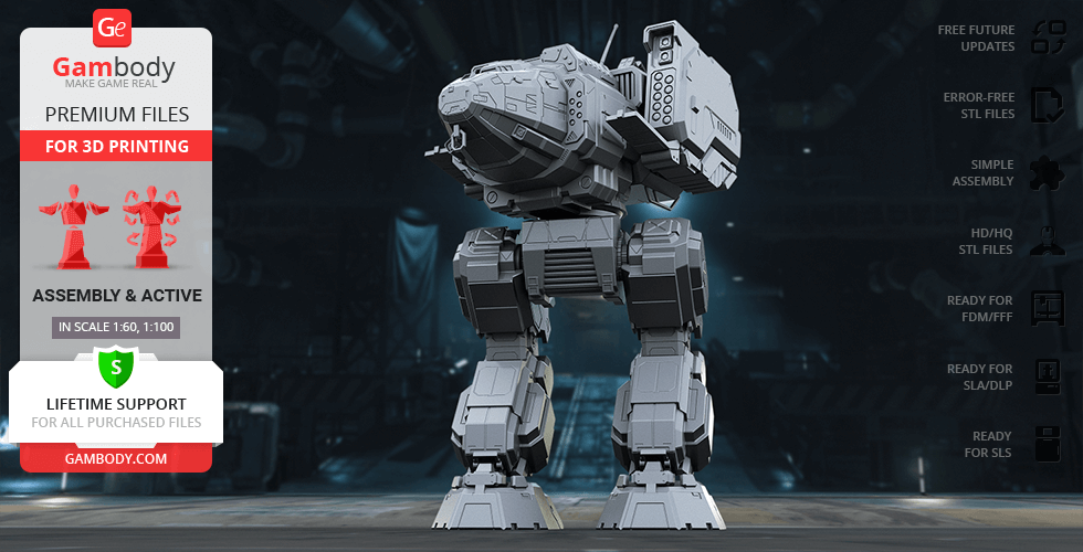 Buy MWO Stalker 3D Printing Model | Assembly + Action