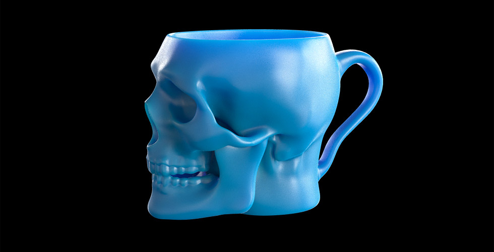 Buy Realistic Skull Mug with Handle