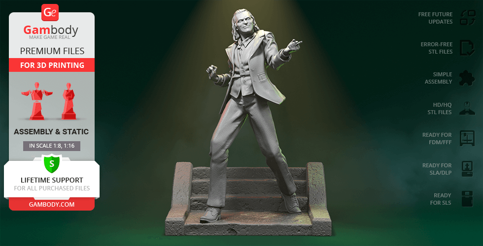 Buy Joker 2019 3D Printing Figurine | Assembly