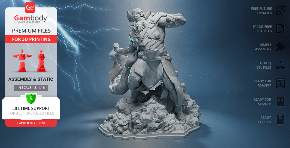 Buy King Thor 3D Printing Figurine | Assembly
