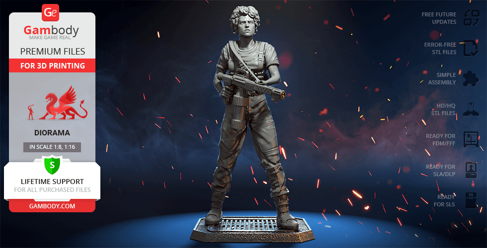 Buy Ellen Ripley 3D Printing Figurine | Assembly