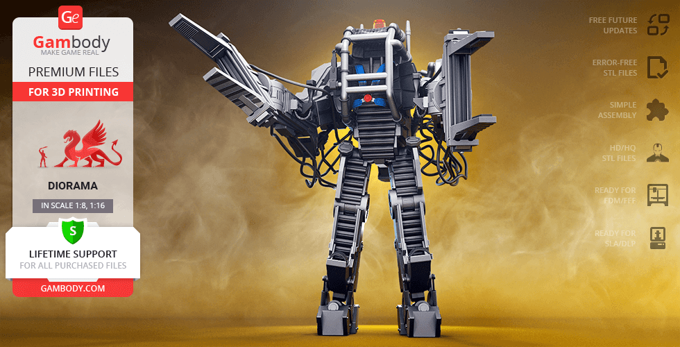 Buy Power Loader 3D Printing Model | Assembly + Action