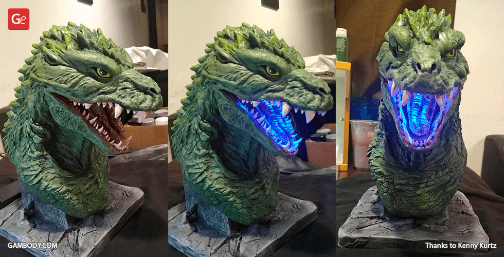 Buy Godzilla 2000 Bust 3D Printing Figurine | Assembly