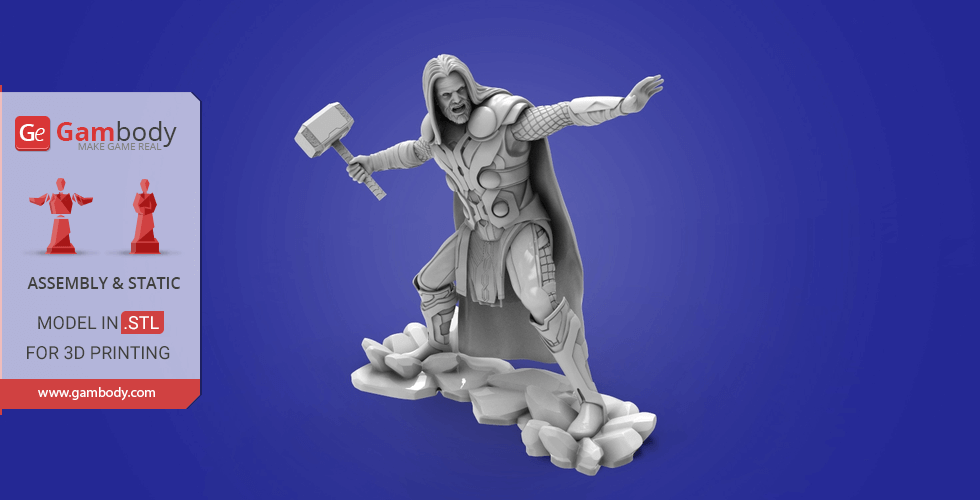Buy Thor God of Thunder 3D Model | Assembly