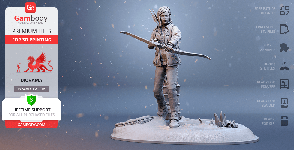 Buy Ellie 3D Printing Figurine | Assembly