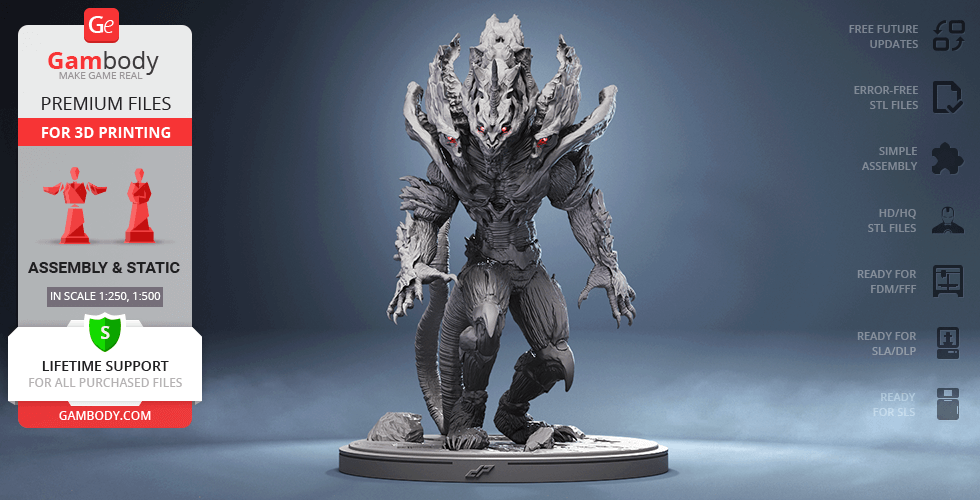 Buy Monster X 3D Printing Figurine | Assembly