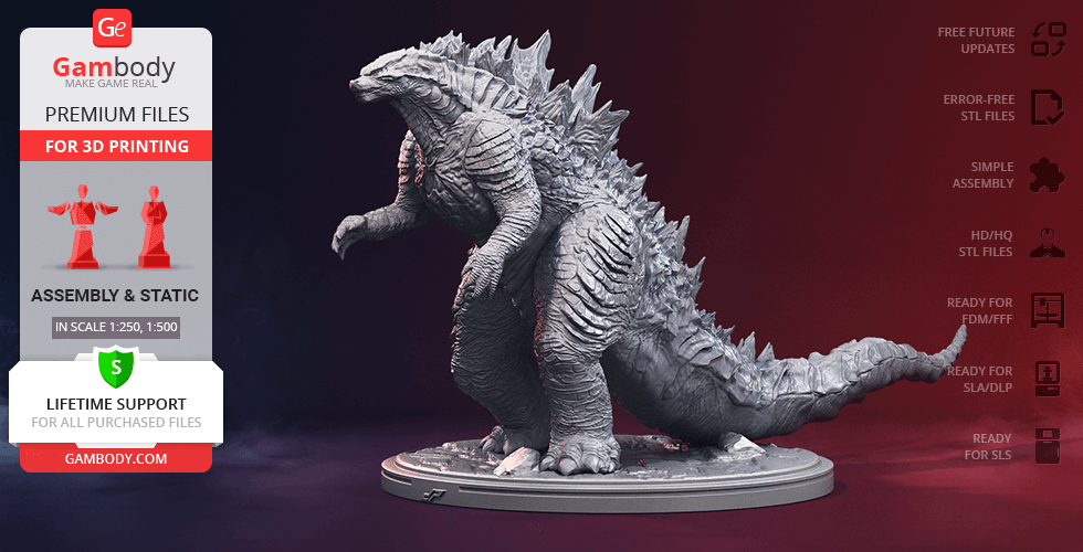 Buy Godzilla 2014 3D Printing Figurine | Assembly