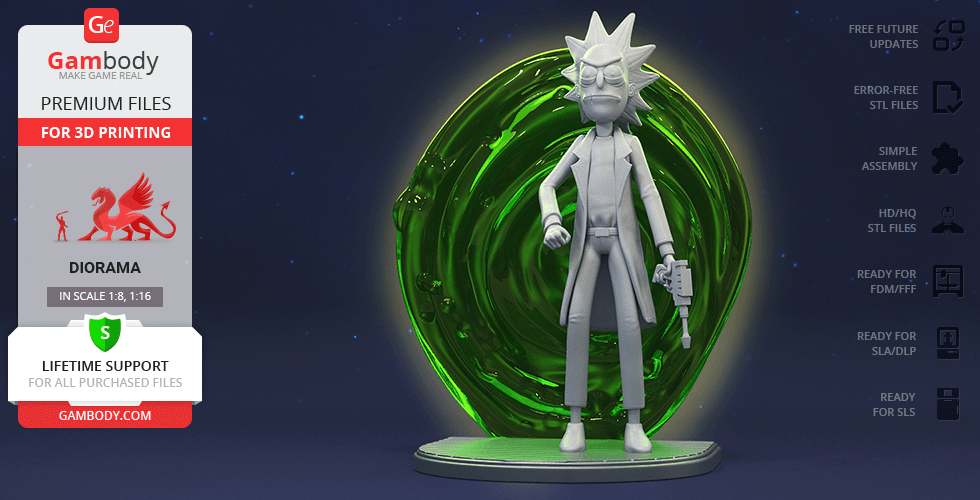 Buy Rick 3D Printing Figurine | Assembly