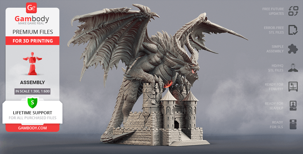 Buy Deathwing 3D Printing Figurine | Assembly