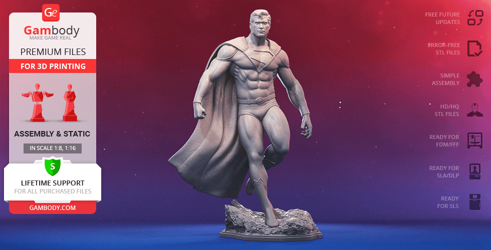 Buy Superman Classic 3D Printing Figurine | Assembly