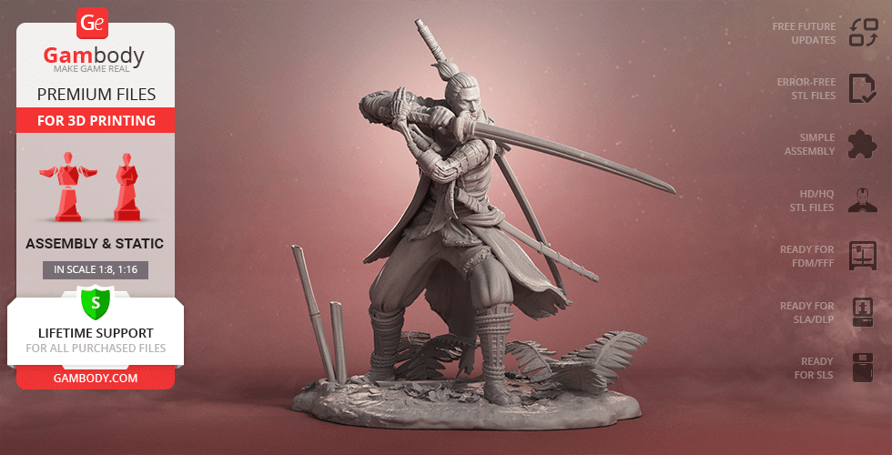 Buy Sekiro 3D Printing Figurine | Assembly
