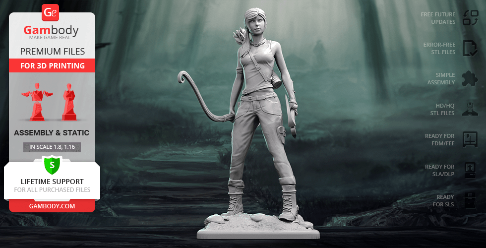 Buy Lara Croft 3D Printing Figurine | Assembly
