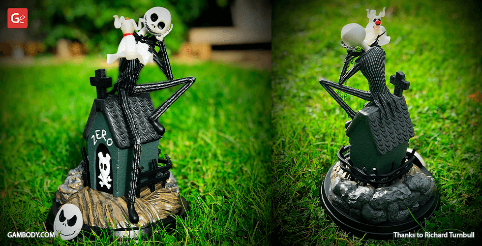 Buy Jack Skellington & Zero 3D Printing Figurines in Diorama | Assembly