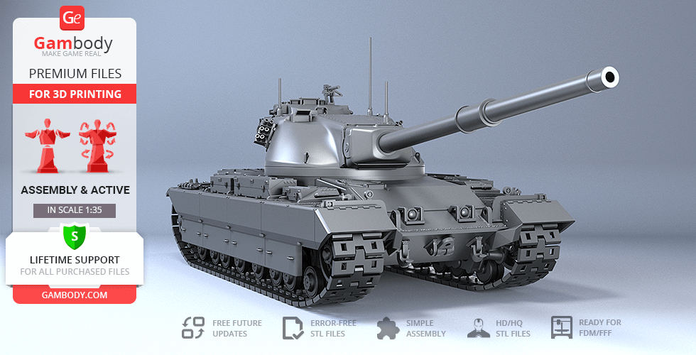 Buy Conqueror Tank 3D Printing Model | Assembly