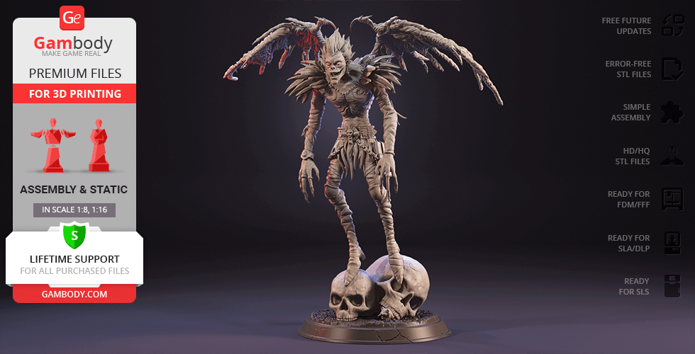 Buy Ryuk 3D Printing Figurine | Assembly